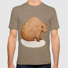 Brown Bear Mens Fitted Tee Tri-Coffee SMALL