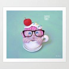 Coffee time! Art Print