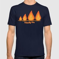 Friendly fire Mens Fitted Tee Navy SMALL