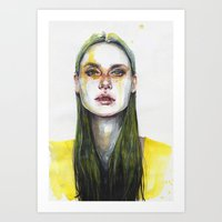 yellow lemongrass Art Print