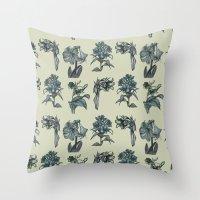 Botanical Florals   Vint… Throw Pillow