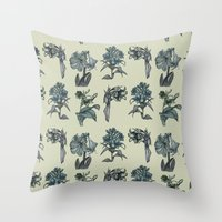 Botanical Florals | Vint… Throw Pillow