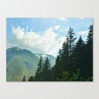 Adventure Beckons Canvas Print