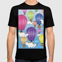 UP! UP! AND AWAAAAAAYYY!  Mens Fitted Tee Black SMALL