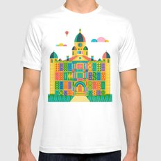 Denton Courthouse SMALL Mens Fitted Tee White