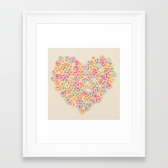 heart to heart Framed Art Print