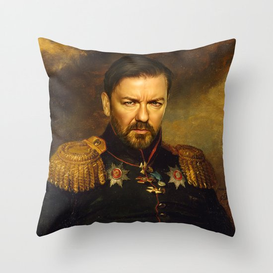 Ricky Gervais - replaceface Throw Pillow