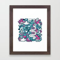 ABSTRACT 0016 Framed Art Print