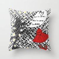 Little Red Riding Hood by Piarei Throw Pillow