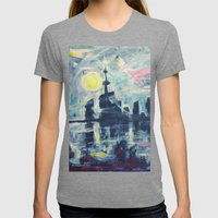 Magical City Evening Womens Fitted Tee Tri-Grey SMALL