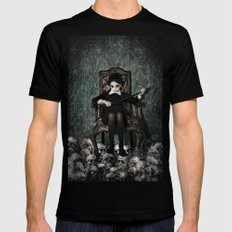 Queen of Skulls Mens Fitted Tee Black SMALL