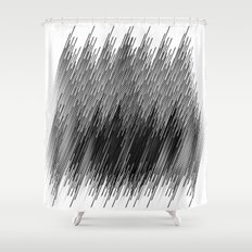Black lines background Shower Curtain