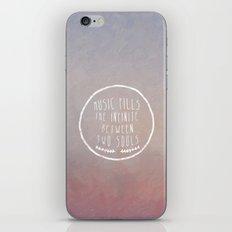 I. Music fills the infinite iPhone & iPod Skin