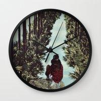 RELENTLESS CORRIDORS Wall Clock