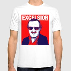 Stan Lee / Excelsior Mens Fitted Tee White SMALL