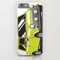 iPhone & iPod Case featuring Mini Cooper Car - Chartreuse by C Barrett
