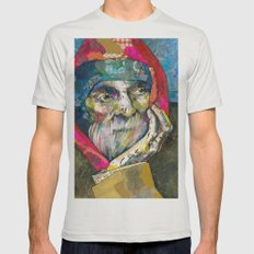 Old man Mens Fitted Tee Silver SMALL