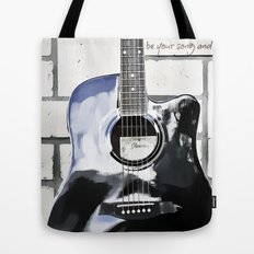 Be Your Song and Rock On in White II Tote Bag