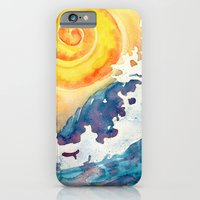 iPhone & iPod Case featuring Facing East - Crashing Wave by Sam Nagel