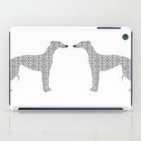 Damask Whippet Dog Art iPad Case