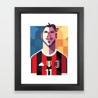 ZI11 | Rossoneri Framed Art Print