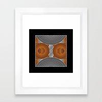 Modern Aboriginal Framed Art Print