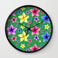 Flower Crazy Wall Clock