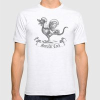 Monstercock Mens Fitted Tee Ash Grey SMALL