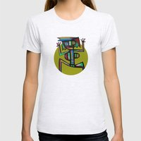 Dancer Womens Fitted Tee Ash Grey SMALL