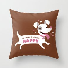Dog kisses Throw Pillow