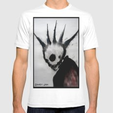 Punk Macabre Mens Fitted Tee White SMALL