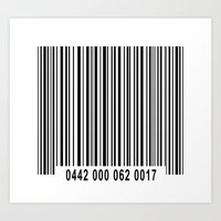 Barcode 1 Art Print