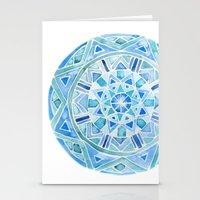 Blue Mandala 1 Stationery Cards