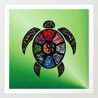 Bagua Turtle Art Print