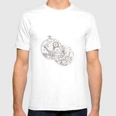 Pocket Watch Mens Fitted Tee White SMALL