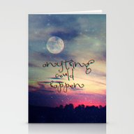 Stationery Cards featuring Anything Could Happen by Monika Strigel