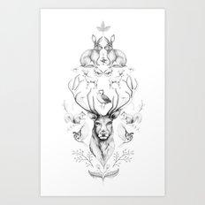 Animals symmetry symphony #2 Art Print