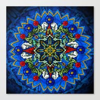 Lighted Rose Window Coll… Canvas Print