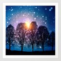 Sounds of winter - HOLIDAZE Art Print