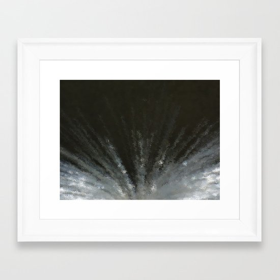 Flash in the night Framed Art Print