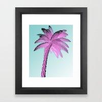 Pink Palm Tree Framed Art Print
