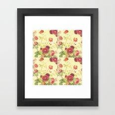 vintage blossom Framed Art Print