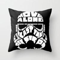 Stormtrooper In Typograp… Throw Pillow