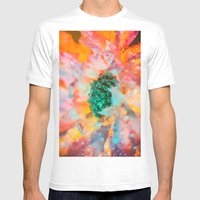 Dewy Flower Petals Mens Fitted Tee White SMALL