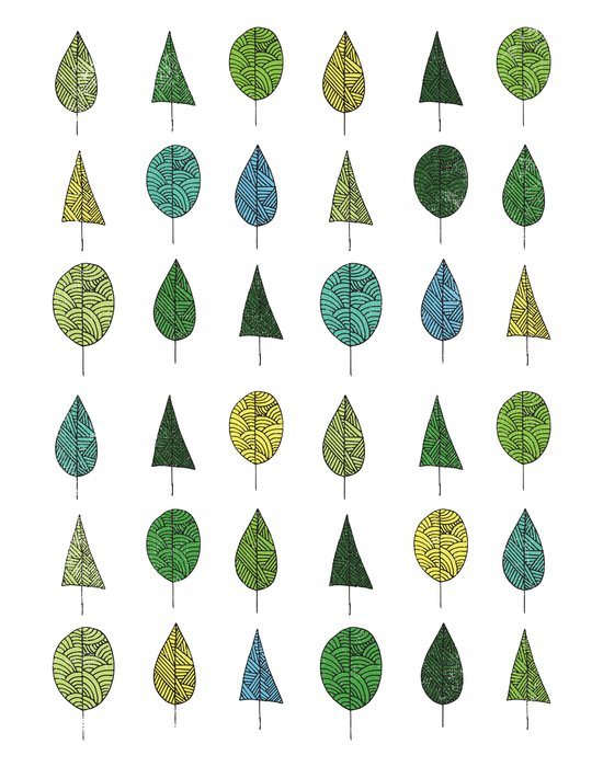 TREES MAKE A FOREST Art Print