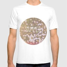 Summer brings the flowers Mens Fitted Tee White SMALL