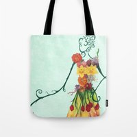 Female Floral Tote Bag