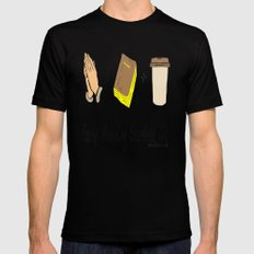 Morning Survival Kit Black SMALL Mens Fitted Tee