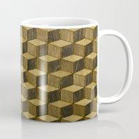 Optical wood cubes Mug