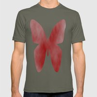 Red Butterfly Mens Fitted Tee Lieutenant SMALL